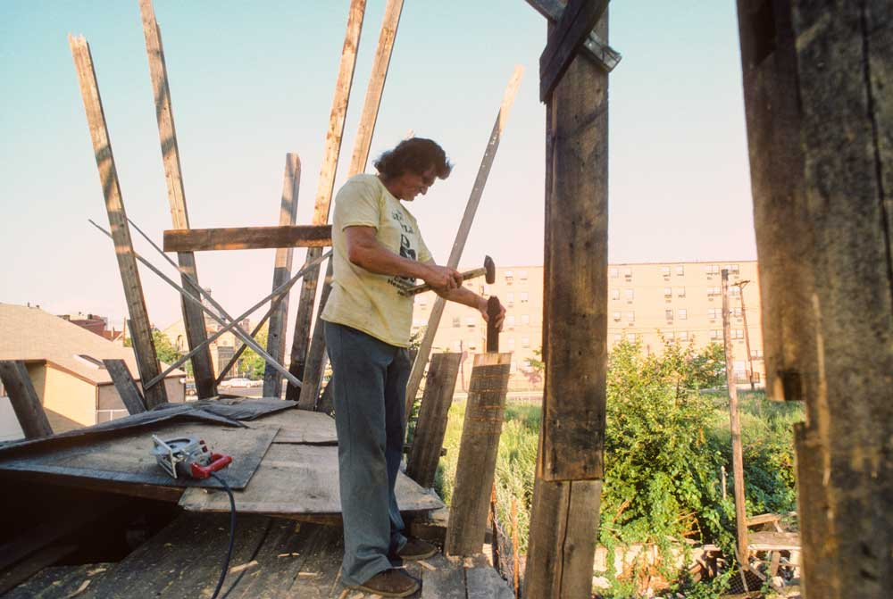 Kea building the ark, 1986